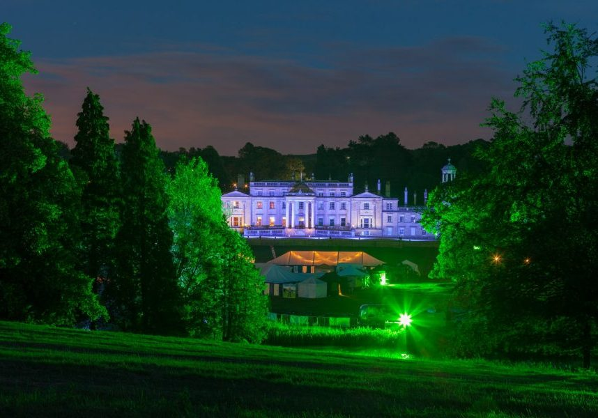 broughton hall festival front lawn lights